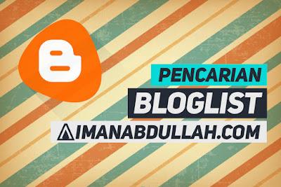 Segmen Pencarian Bloglist AIMANABDULLAH.COM