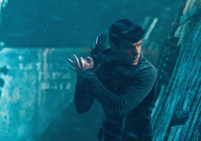 Zachary Quinto's Spock is armed, in Star Trek Into Darkness, in cinemas May 17