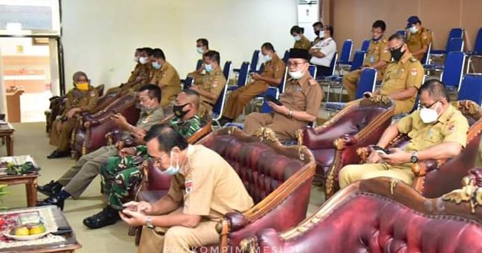 DPRD Mesuji Menggelar SIdang Parupurna Penyampaian LKPJ Bupati TA 2020