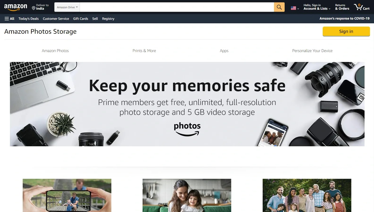 Amazon Drive - Some of the Best Free Cloud Storage Options in 2021