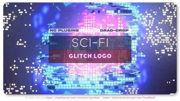 Videohive Sci-Fi Glitch Logo 28642013