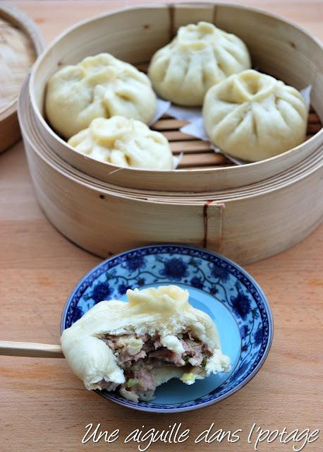 cuisine chinoise baozi porc chou pain vapeur