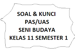 Soal dan Jawaban PAS/UAS Seni Budaya Kelas 11 Semester 1 Tahun 2021/2022
