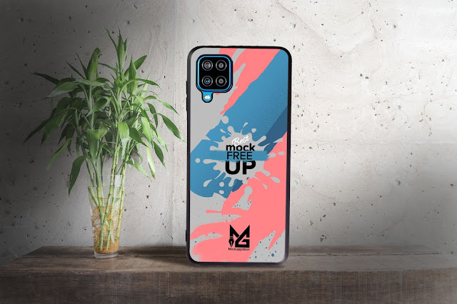 Mockup Blackmatte Case Samsung Galaxy A12