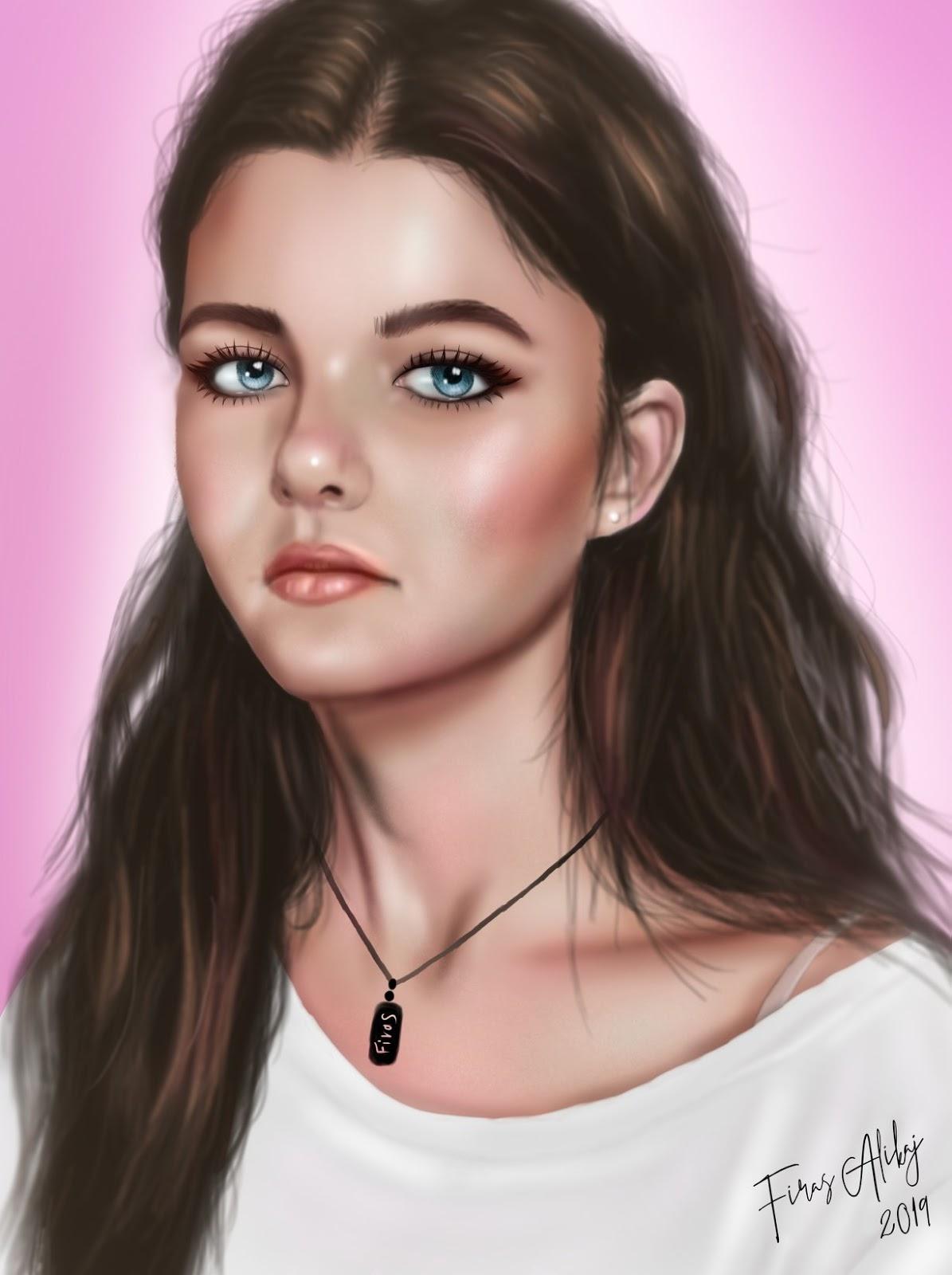 Kelsey Portrait - FanArt by Firas Alikaj - BlogFanArt