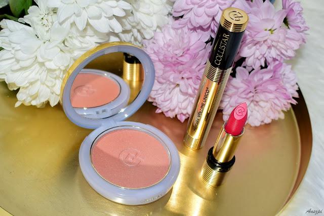 Włoskie piękno w mojej kosmetyczce- kosmetyki Collistar: mascara Volume Unico, pomadka Unico i maxi róż Effetto Seta