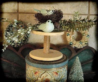 christmas birds decoration spool