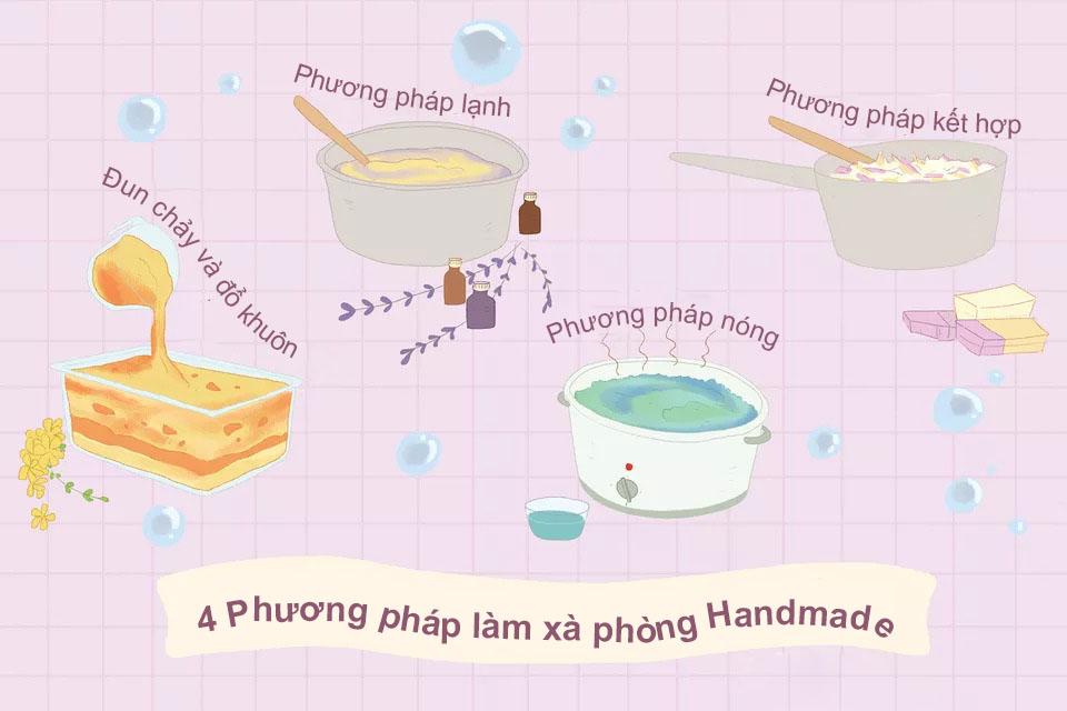4 Phương pháp làm xà phòng Handmade