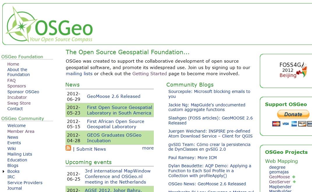 Open Source GIS Blog: OSGeo org -- Your Open Source Compass