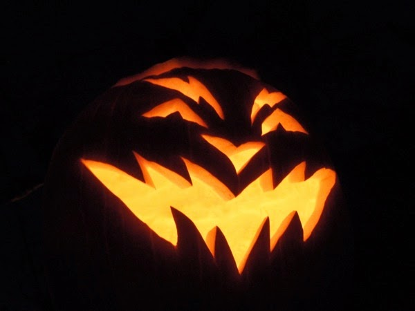 Carved Halloween pumpkin idea