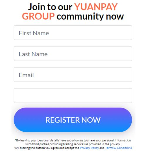 yuanpay group community signup form