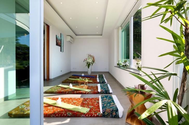 Yoga room in Modern Villa Beyond in Phuket