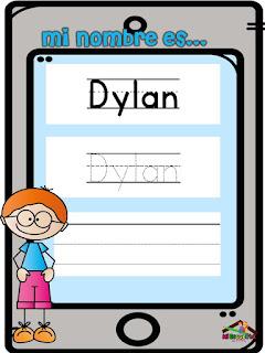 aprendo mi nombre en preescolar