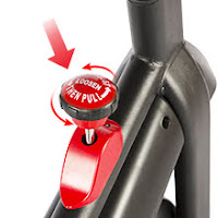 Resistance knob & push-down brake on SNODE 8722 & 8731 Indoor Cycling Bike, image