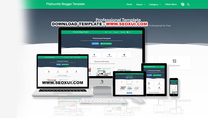 Platinumify Blogger Template Freemium