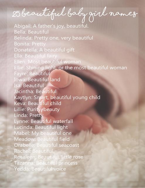 25 Beautiful Baby Girl Names 2020