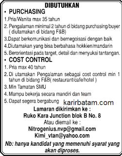 Lowongan Kerja Karyawan Purchasing dan Cost Control