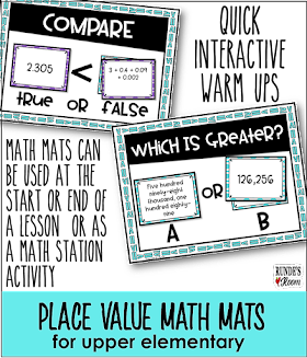 Runde's Room:  Place Value Interactive Math Mats
