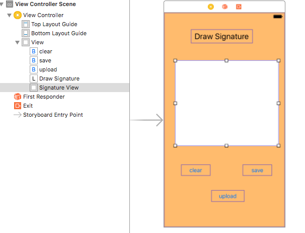 I2swift coding : YPDrawSignatureView Draw or capturing