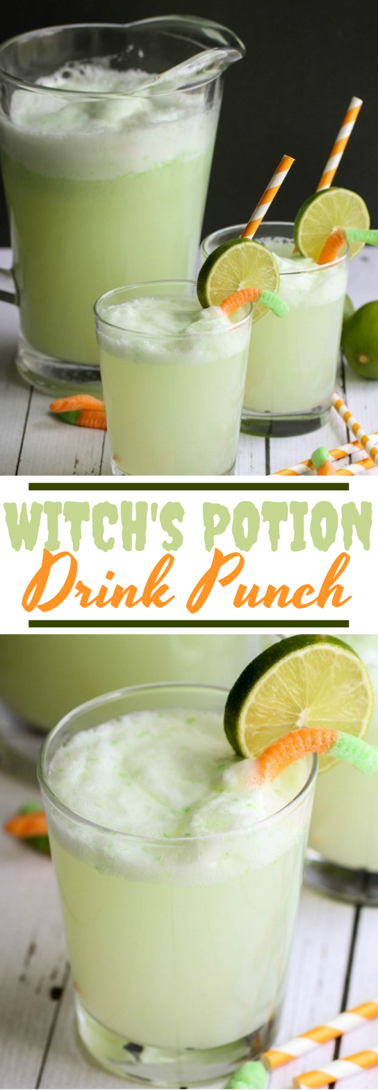 Witch's Potion Drink #drinks #party #kidfriendly #halloween #punch