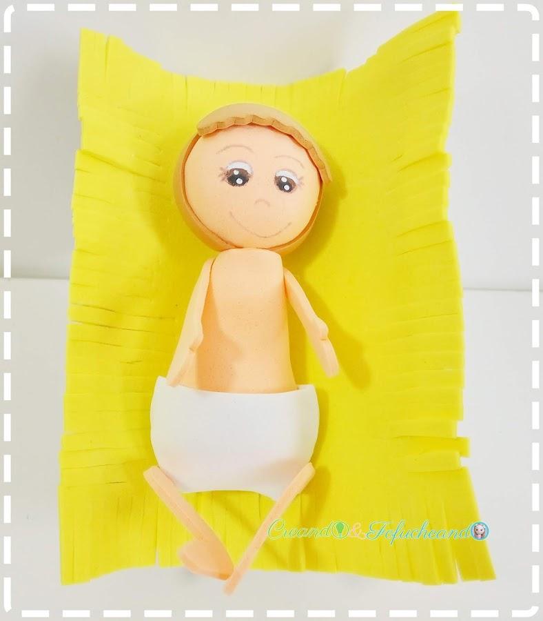 Fofucho-Niño-Jesús-paso-a-paso-cómo-hacer-un-portal-de-belén-nacimiento-o-pesebre-de-Fofuchos-creandoyfofucheando