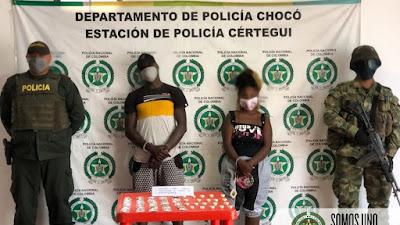 Dos capturados en Certegui y otro en Bahía Solano por tráfico, fabricación o porte de estupefacientes.