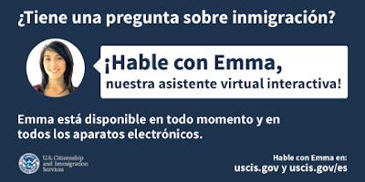 Emma no es sólo una cara amiga. Es un recurso poderoso e innovador disponible 24/7 que puede responder a sus preguntas de inmigración en cuestión de segundos