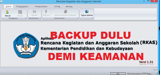 cara backup aplikasi rkas 2019