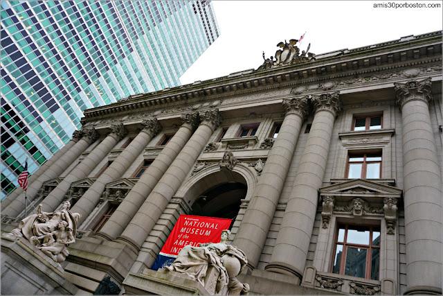 Fachada del Museo Nacional de los Indios Americanos en Nueva York
