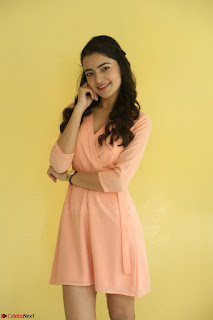 Rukshar Mir in a Peachy Deep Neck Short Dress 113.JPG