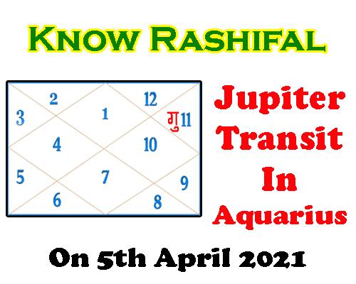 Jupiter Transit in Aquarius on 5th april 2021 Predictions by best astrologer