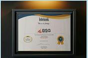 BSG Kembali Raih Penghargaan Kinerja Terbaik. Pepah : Penghargaan Ini Atas Kinerja Seluruh Lini Perusahaan