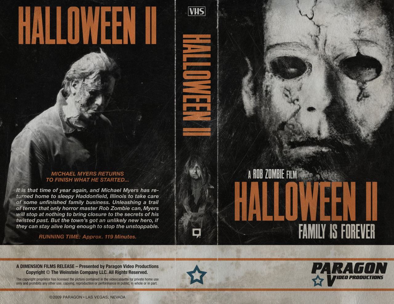 The Horrors of Halloween: HALLOWEEN 2 (2009) VHS, DVD and Blu-ray Covers