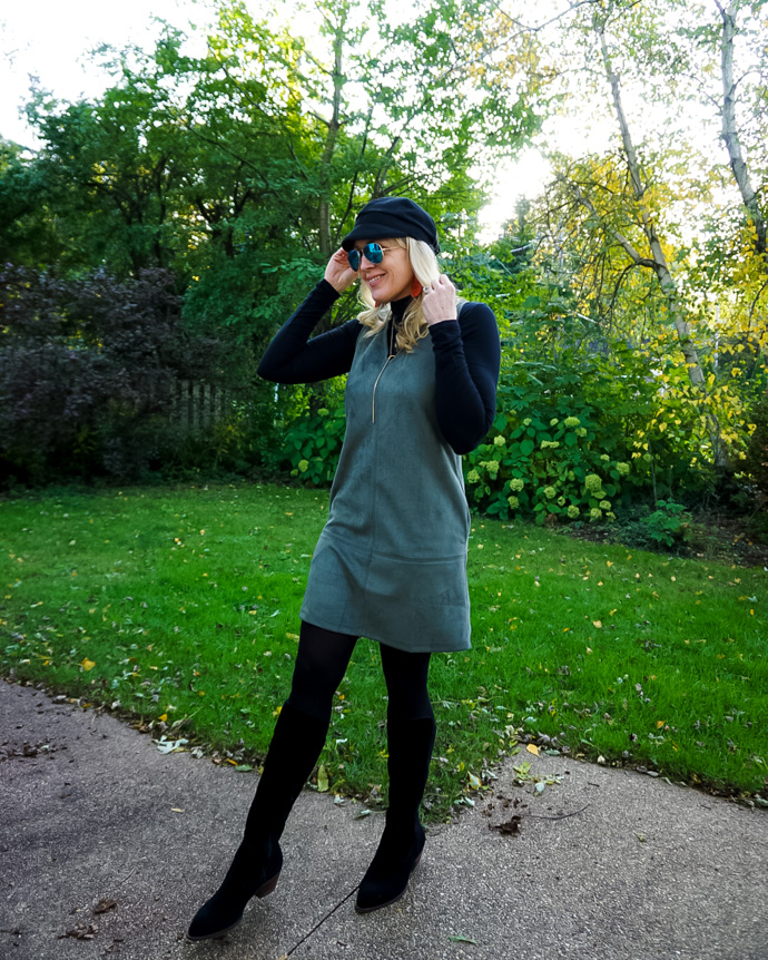 How to Layer a Jumper Dress Fall