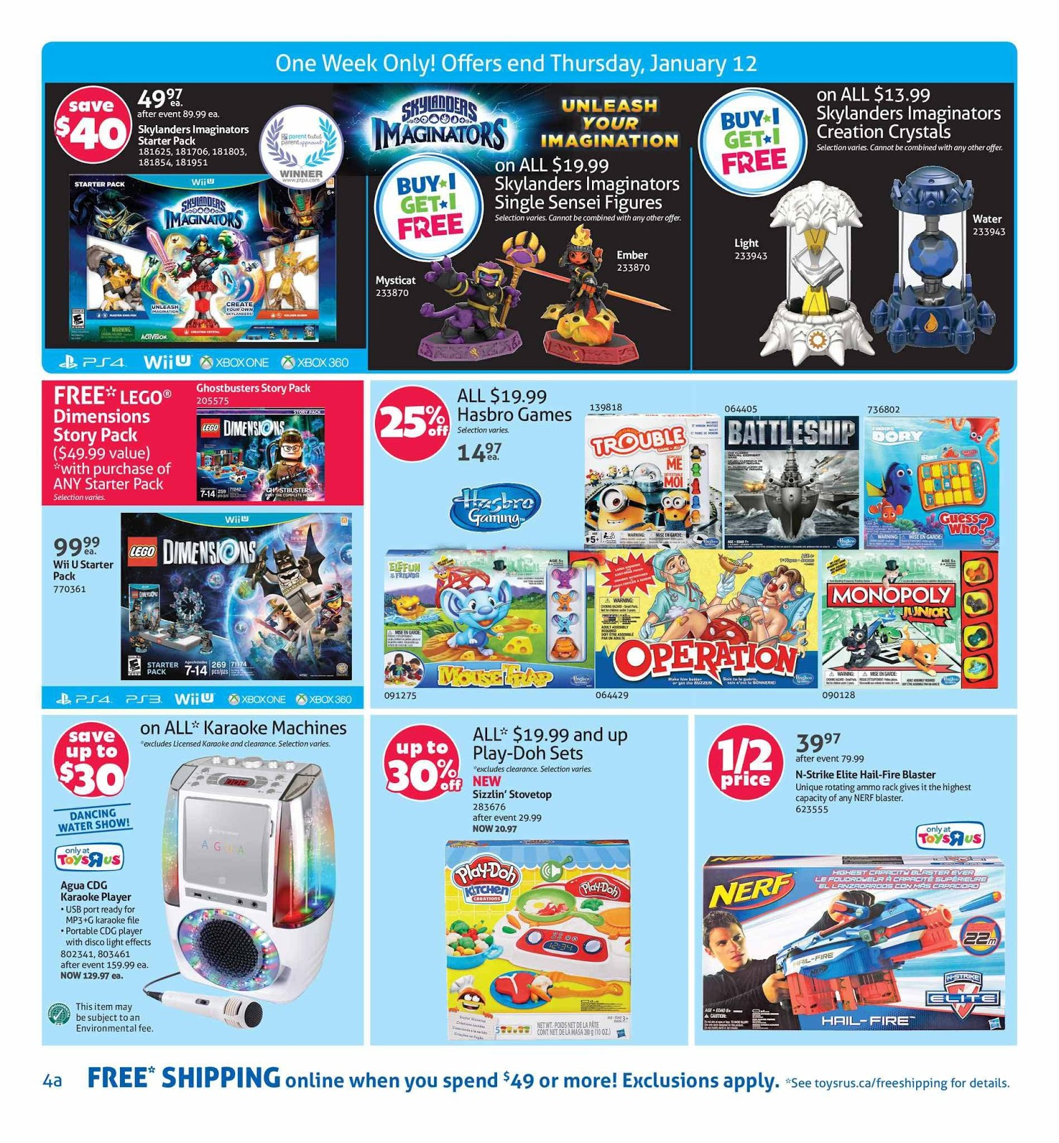 Toys R Us Flyer : Toys r us flyer january weekly flyers canada