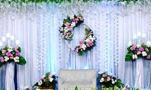 Backdrop untuk akad nikah dan lamaran
