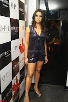 Sanjana looks happy in sparkling short Deep neck Purple Gown ~  Exclusive 21.JPG