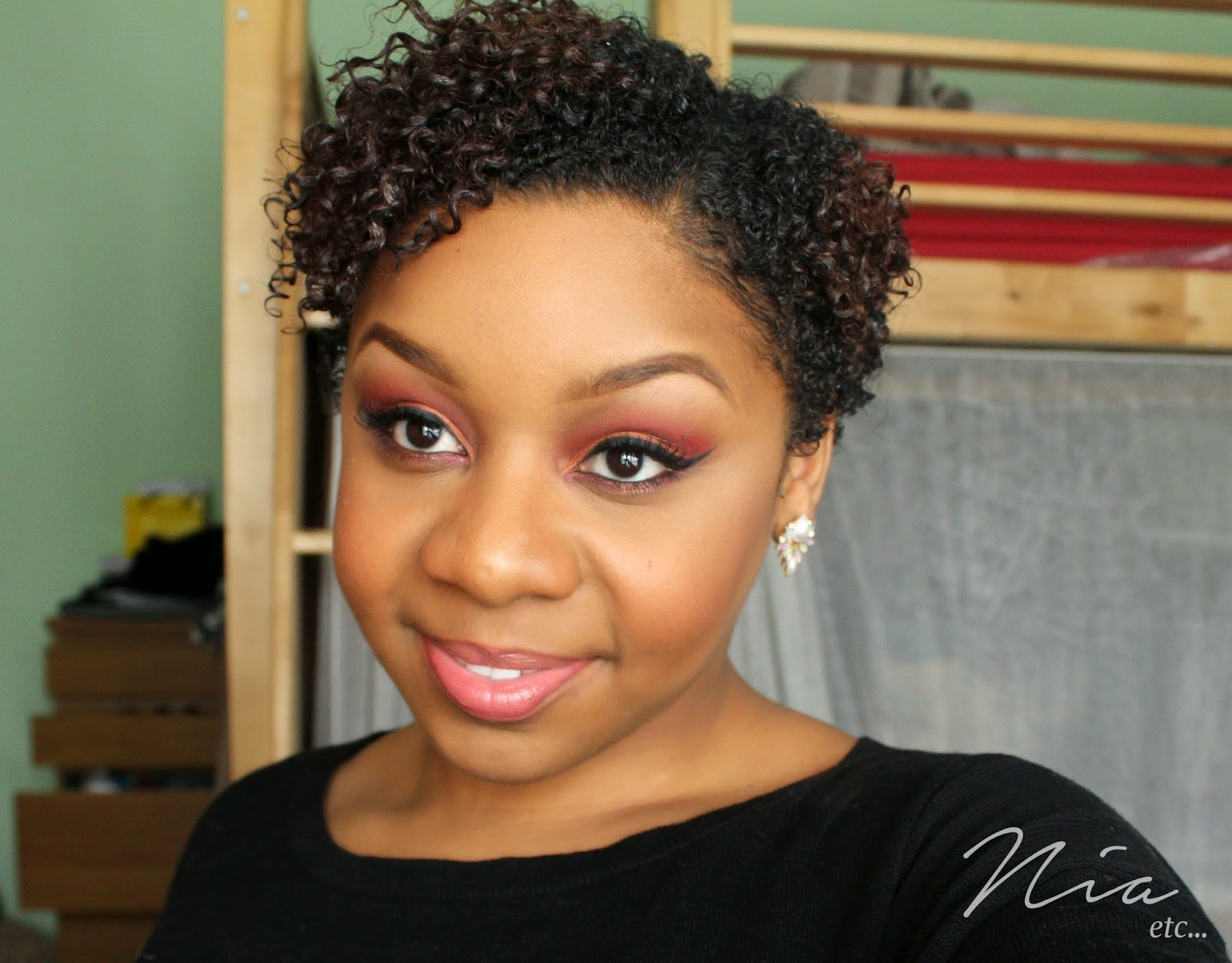 Summertime Orange and Red MakeUp Look 5