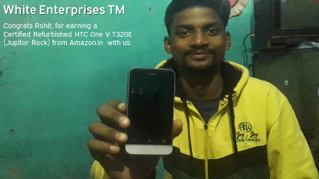 HTC phones: Rohit earned an HTC One Android Smartphone.