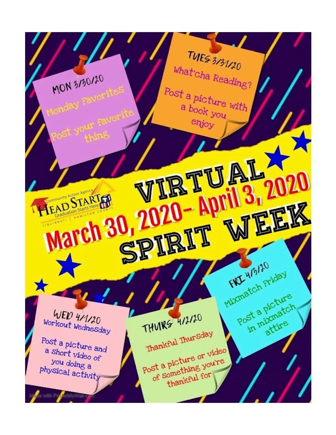 CAA Head Start Virtual Spirit Week