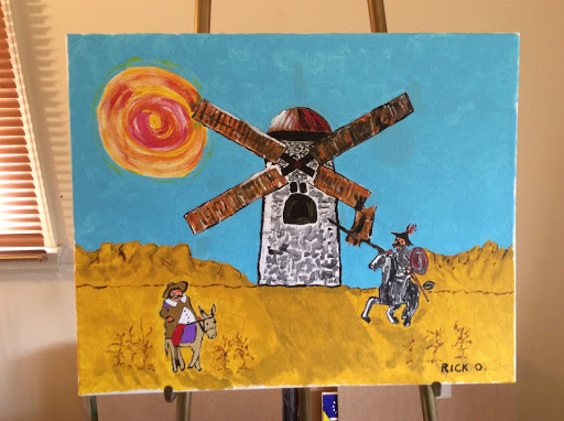 "Original Acrylic Painting, 16""x20"" Don Quixote"
