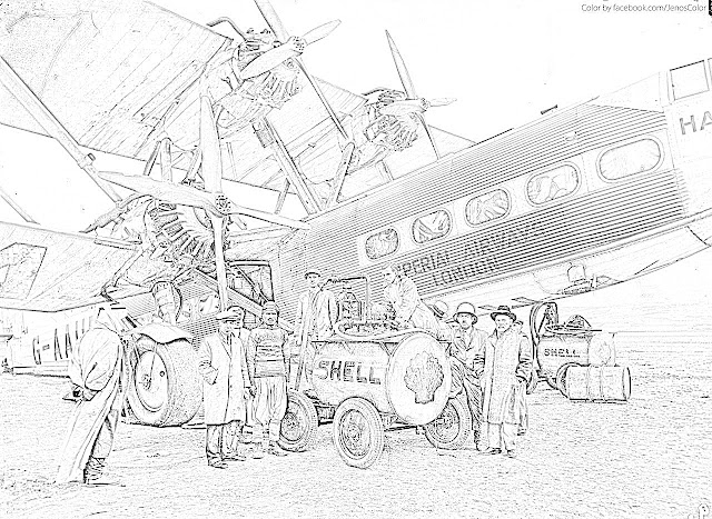 biplanes coloring pages coloring.filminspector.com Handley Page