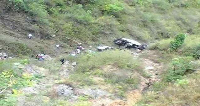 बड़ी ख़बर हिमाचल के इस जिले में खाई में गिरी कार युवा बैंक मैनेजर की मौत