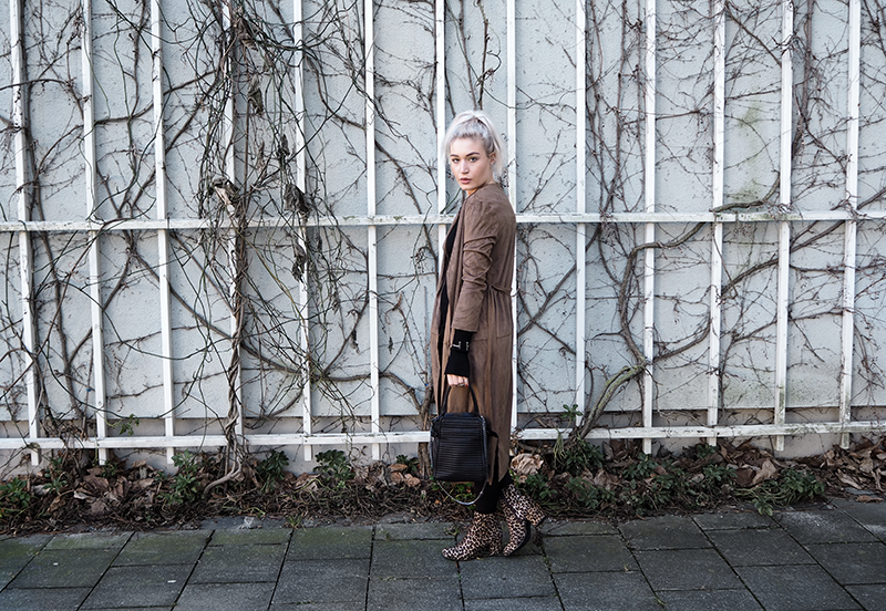 Streetstyle Outfit Camel Coat Mode Blogger