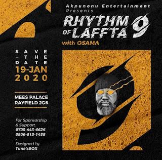 Rhythm of Laffta 9.0 Flier (designed by Tune's Box)