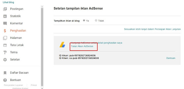 Cara Add Site Domain Blogspot pada Google Adsense Non Hosted