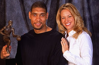 Amy Sherrill with her ex-husband Tim Duncan