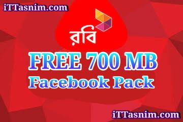 Robi FREE 700 MB Facebook | Robi Free internet 2018