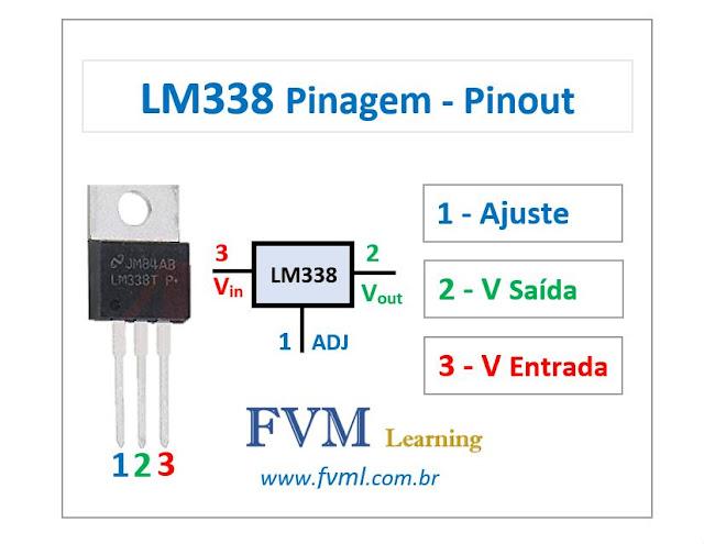 Pinagem - Pinout - Regulador de tensão LM338 - Características