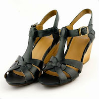 Sandale Clarks Popple Jive negre, din piele naturala, cu toc de 6.5 cm (Clarks)